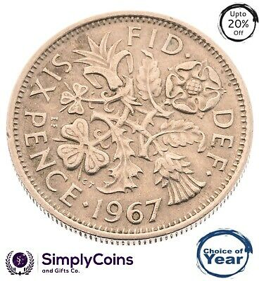 Lucky Silver Sixpence 1947- 1967 - Birthday / Anniversary - Choice Of Year/Date • 0.99£