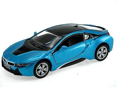 $7.39 • Buy Kinsmart BMW I8 2 Door Coupe 1:36 Diecast Model Toy Car Pull Action New- Blue