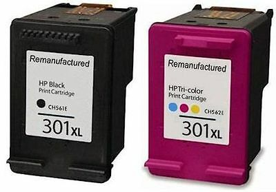 Refilled Ink For HP 301XL Black And Colour Ink Cartridges For HP Envy 4502 • 32.49£