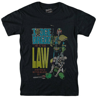 JUDGE DREDD T-shirt He Is The Law Number #1 Comic- Movie - • 19.96£