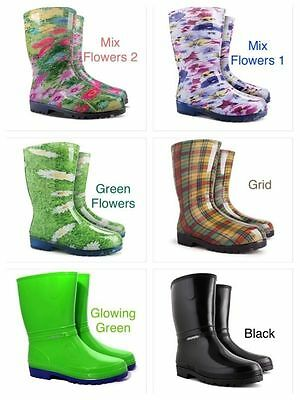 New Wellington Boots Womens Ladies Wellies Waterproof Walking Gardening Rain • 15.97£