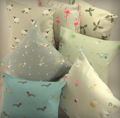 Sophie Allport Fabric.REVERSIBLE 12  30cm Cushion Cover Sheep Duck Bee Flamingo • 8.99£