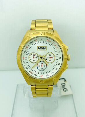 £402.01 • Buy D&G Men's Chronograph DW0432 Gold Stainless-Steel Quartz Watch With Silver Dial