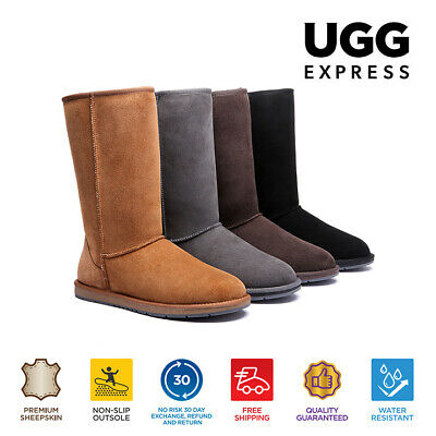 AU135 • Buy 【EXTRA17%OFF】UGG Boots Tall Unisex Classic Double Face Sheepskin WaterResistant