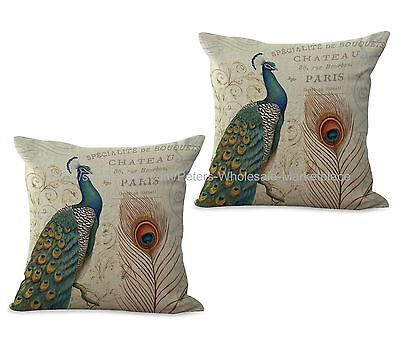Set Of 2 Wholesale Pillows  Peacock Cushion Cover • 15.73£