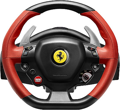 Xbox One Steering Wheel Controller Driving Pedals Racing Video Game 458 Ferrari • 290.86$