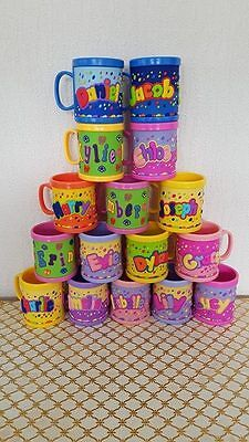 Girl Boys Childrens 3D Personalised Name Plastic Cup/Mug New Perfect Gift UK • 4.99£