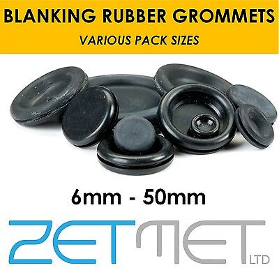 Blanking Rubber Grommets Closed Blind Grommet Plug Bung Gromet 6 - 50mm Sizes • 2.95£