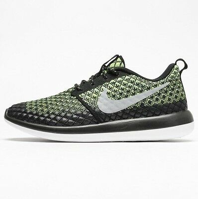 san francisco 66c71 673d8 Nike Roshe Run 2 Flyknit 365 Two - Black volt Green 859535 700 - Uk
