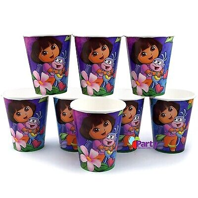 Dora The Explorer Cups X 8 Paper Girls Birthday Party Decorations Supplies • 3.63£