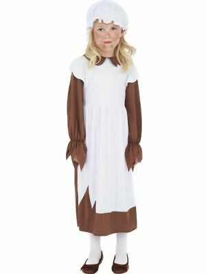 £12.99 • Buy Girls Childrens Poor Victorian Scullery Maid Fancy Dress Costume Outfit