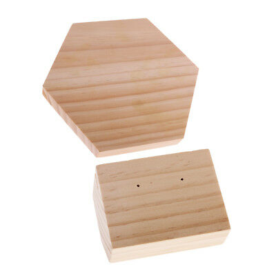 2pcs Wooden Ring Holder Jewelry Display Stand Showcase Earrings Show Case • 12.36£