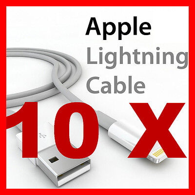 AU12.79 • Buy 10 Charging USB Cable Charger For Apple IPhone 5S 5C 6S 7 8 9 10 11 X 12 Ipad