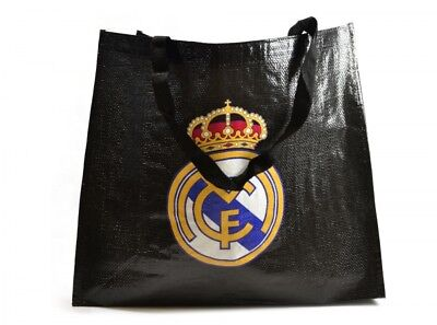 £4.95 • Buy Black Reusable Tote Shopping Bag Official Real Madrid Football Club Eco Fan Gift