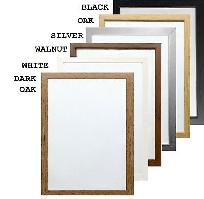 £3.99 • Buy A1 A2 A3 A4 A5 Black Photo Frame White Picture Frame Poster Frames Walnut 30mm