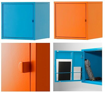 Ikea LIXHULT Wall Cabinet Cupboard,Home Office Storage Living,Metal,two Colours • 29.99£