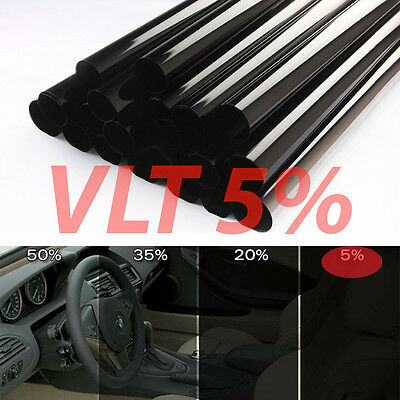 AU24.15 • Buy Uncut Window Tint Roll 5% VLT 25  In 15 Ft Feet Home Commercial Office Auto Film