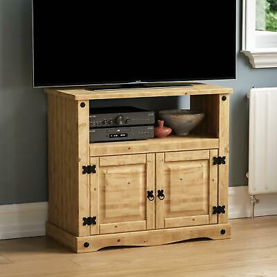 Corona Straight TV Unit Mexican Solid Waxed Pine Entertainment Display Stand • 47.90£