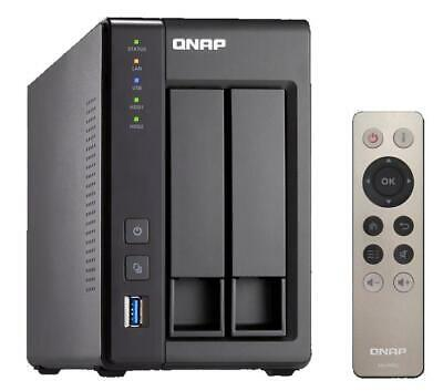 QNAP TS-251+ Tower 2-Bay Network Attached Storage (NAS) Celeron (2.0GHz) 2GB (1x • 368£