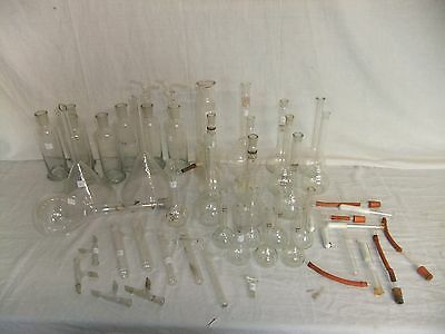 C4 Extensive Set Of Laboratory Glassware, 45 Pieces, Used, Sold As Whole, 8A1D • 149.99£