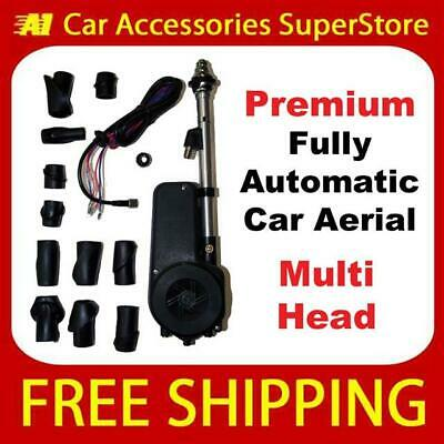 £34.99 • Buy Universal Premium Car Aerial Electric Automatic Multi Head 12v 12 Volt Wing Fit