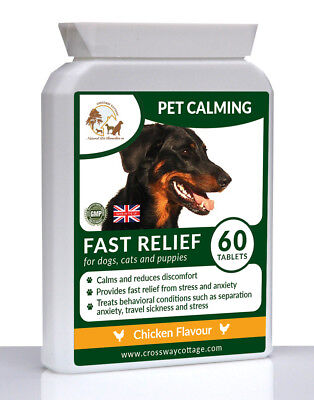 £16 • Buy Natural Pet Calming Remedy & Treatment For Stress, Anxiety & Hyperactivity (60)