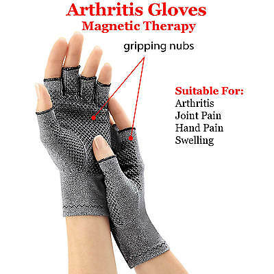 AU14.99 • Buy Magnetic Arthritis Gloves Soft Compression Hand Therapy Support Sore Finger