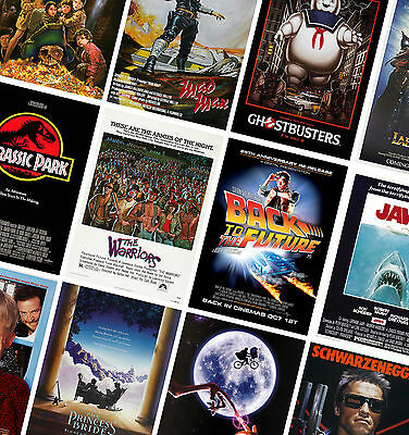 CLASSIC VINTAGE MOVIE POSTERS - A4 A3 A2 - HD Prints - Jurassic Park, Jaws, ET • 7.49£