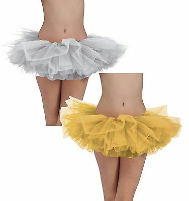 Tutu Gold Or Silver Girly Cute Fancy Dress For Women Frilly 2 Colors  • 10.75£