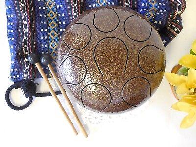 WuYou 8 Inches 19cm Steel Tongue Drum Handpan, Perfect Chakra Healing, Brown • 74.86£