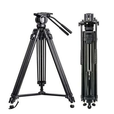 AU133.47 • Buy Professional Heavy Duty Tripod Video Camera W/ Fluid Pan Head For DSLR Camcorder