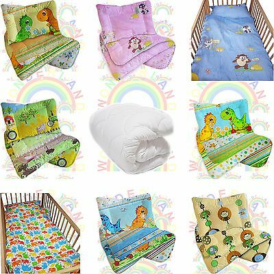 Cot DUVET 4.5 TOG Bedding Set QUILT PILLOW  2 PIECE Baby BED FITTED SHEET • 14.49£