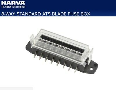 AU30 • Buy Narva 8-Way Standard ATS Blade Fuse Box For Lateral Connection With Female 6.3mm