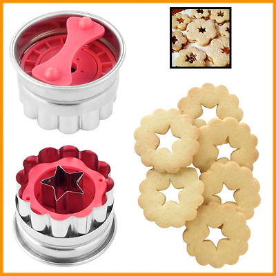 Cookie Plunger Cutter Flower Biscuit Fondant Mold Star Mould Bake Shortbread • 6.94£
