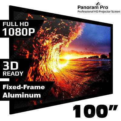 AU219.95 • Buy 100  Inch Fixed Aluminum Frame Projector Screen Home Theatre HD TV Projection 3D