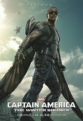 Captain America The Winter Soldier Movie Poster (24x36) Falcon, Mackie V7 • 14.62£