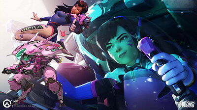 AU9.99 • Buy 099 Overwatch - OW FPS 2016 Hot Online Game 42 X24  Poster