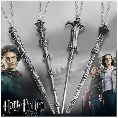 $8.96 • Buy Harry Potter Characters Magical Wand Necklace Pendant Set (US Seller)