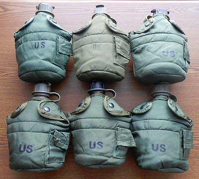 $ CDN38.07 • Buy Us Military 1 Qt Od Canteens & Cover / Carry Pouches ~gently~used~