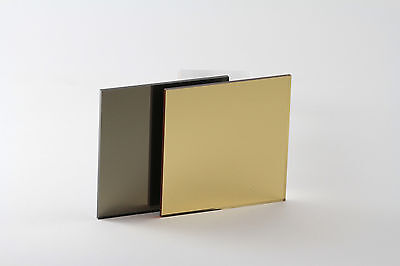 Gold/Bronze Acrylic (Perspex) Mirror - Multiple Sizes Available • 25.10£