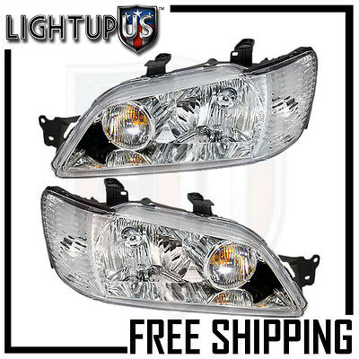$175.86 • Buy Headlights Headlamps Pair Left Right Set For 02-03 Mitsubishi Lancer