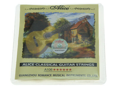 $ CDN5.09 • Buy Alice Clear Nylon Classical Guitar String Hard Tension Set Of 6 Guitar Strings