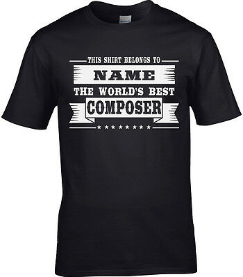 Composer Mens Personalised T-Shirt Gift Idea Music Musical Lyric Orchestra Funny • 10.95£