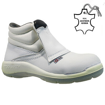 £9.95 • Buy New Ladies White Steel Toe Cap Safety Work Hygiene Food Medical Shoes Boots Size