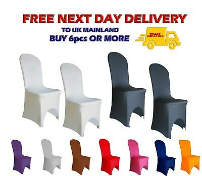 £174.99 • Buy SPANDEX Wedding CHAIR COVERS Arched Front 12 Colours Anniversary Party Decor UK