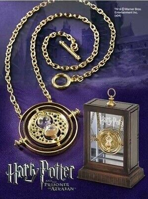 $2.99 • Buy Harry Potter Time Turner Necklace Hermione Granger Rotating Spins Gold Hourglass