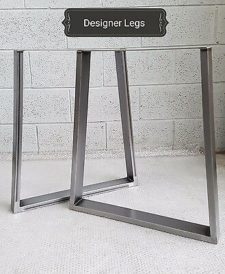 1 Pair TRAPEZIUM Table/Bench Legs Metal Steel Industrial Rustic MADE IN UK  • 65£