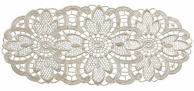 Cream Floral Lace Oval Doilies Pack Of 6 Traditional Table Dressing Home Mats • 6.99£
