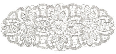 White Floral Lace Oval Doilies Pack Of 6 Traditional Table Dressing Home Mats • 6.89£