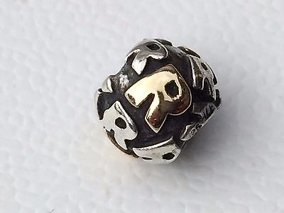 AU135 • Buy Authentic Pandora Letter R Initial Charm - Two Tone Silver And 14K Gold - 790298